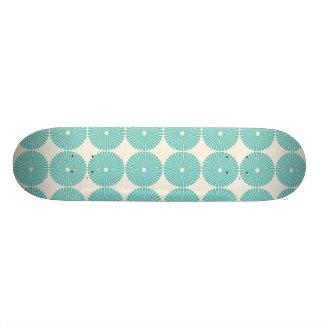 Pretty Teal Aqua Turquoise Blue Circles Disks Skate Decks