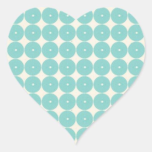 Pretty Teal Aqua Turquoise Blue Circles Disks Stickers
