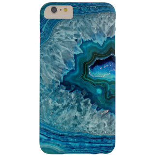 Pretty Teal Aqua Turquoise Geode Crystals Pattern Barely There iPhone 6 Plus Case