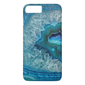 Pretty Teal Aqua Turquoise Geode Crystals Pattern iPhone 7 Plus Case