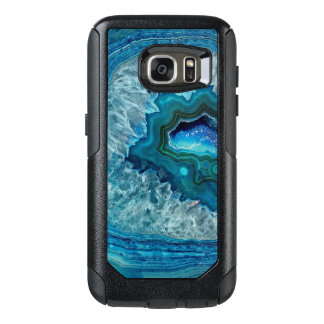 Pretty Teal Aqua Turquoise Geode Marble Pattern OtterBox Samsung Galaxy S7 Case