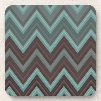 Pretty Teal Chevron Inspired Design - Zigzag Coaster