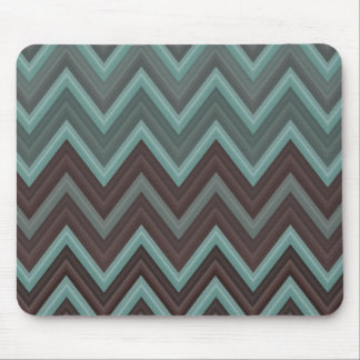Pretty Teal Chevron Inspired Design - Zigzag Mouse Pads