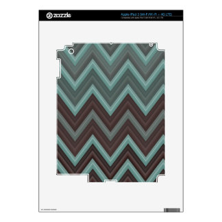 Pretty Teal Chevron Inspired Design - Zigzag Skins For iPad 3