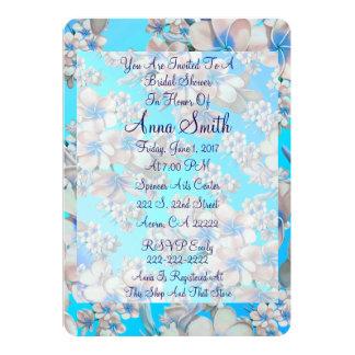 Pretty Teal Floral Bridal Shower Invitation