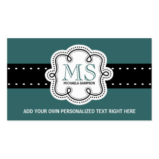 Pretty Teal Girly Ladies Calling Card