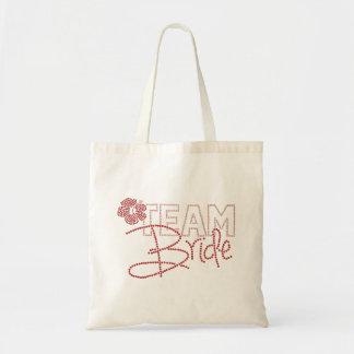 Pretty Team Bride & Hibiscus Flower Budget Tote Bag