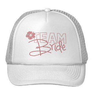 Pretty Team Bride & Hibiscus Flower Trucker Hat