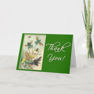 Pretty Thank You Card with Bees card
