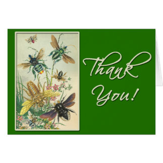 Pretty Thank You Card with Bees