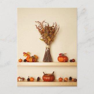 Pretty Thanksgiving Seasonal Decorations Postcards