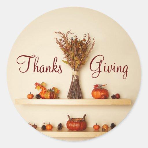 Pretty Thanksgiving Seasonal Decorations Stickers