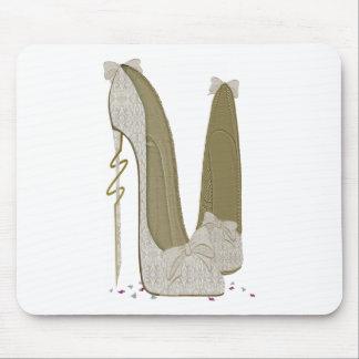 Pretty Things Wedding Stiletto Shoes Art Mouse Pad