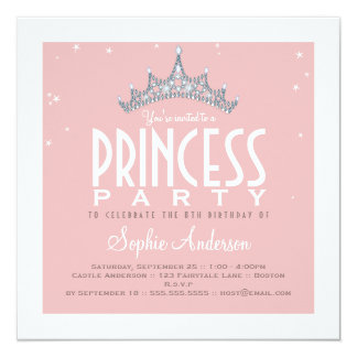 Princess Party Invitations & Announcements | Zazzle