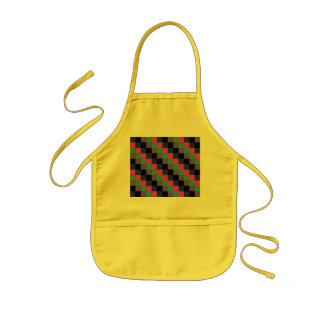Pretty Tiled Mosaic Pattern with Purple and Black Kids' Apron