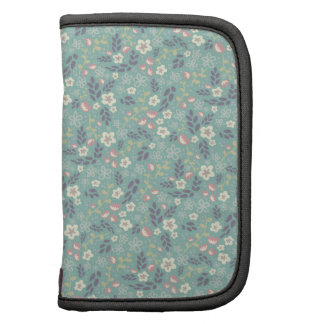 Pretty Tiny Floral Pastel Teal Pattern Organizers