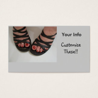 Pretty Toes Business Cards, Nail Tech Business Card