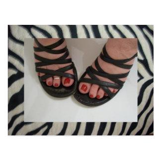 Pretty Toes Zebra Postcards