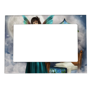 Pretty Tooth Fairy Picture Frame Magnet