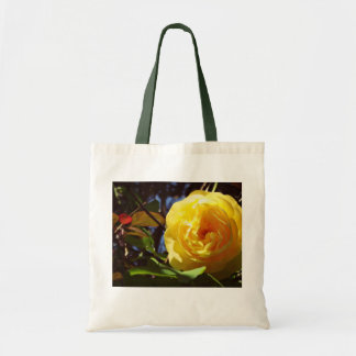 pretty tote bag with yellow rose tote bag