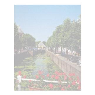 Pretty town on the River Lek, Netherlands fl Letterhead