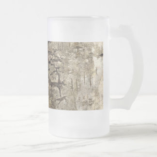 Pretty Tree Bark Frosted Glass Beer Mug