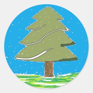 pretty Tree snowflakes Sticker