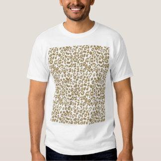 Pretty trendy faux gold glitter leopard print shirt