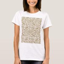 Pretty trendy faux gold glitter leopard print T-Shirt