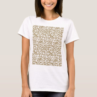 Pretty trendy faux gold glitter leopard print T-Shirt