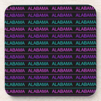 Pretty Tri-Colored Alabama Beverage Coaster