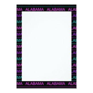 Pretty Tri-Colored Alabama Card