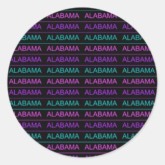 Pretty Tri-Colored Alabama Classic Round Sticker