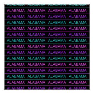 Pretty Tri-Colored Alabama Poster