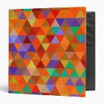 Pretty Triangle grunge pattern I + your ideas Vinyl Binder