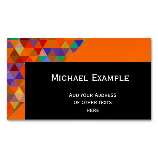 Pretty Triangle grunge pattern I + your ideas Magnetic Business Card