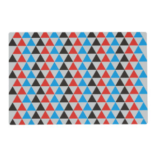 Pretty Triangle pattern black red blue + your idea Placemat