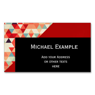 Pretty Triangle pattern II + your ideas Magnetic Business Card
