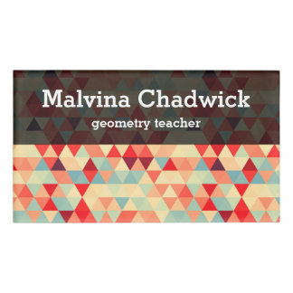 Pretty Triangle Pattern II + Your Ideas Name Tag