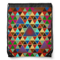 Pretty Triangle pattern III   your ideas Drawstring Backpack
