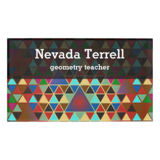 Pretty Triangle Pattern III + Your Ideas Name Tag