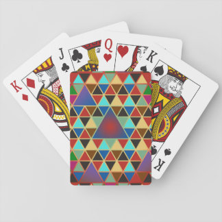 Pretty Triangle pattern III + your ideas Playing Cards