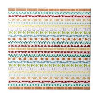 Pretty Tribal Inspired Pattern (Version #2) Ceramic Tile