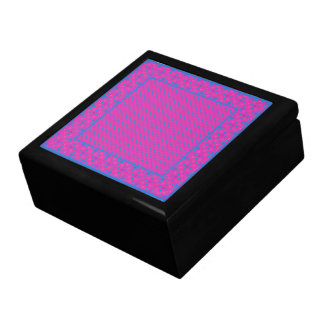 Pretty Trinket Box, Magenta: Bright Blue Dots Gift Box