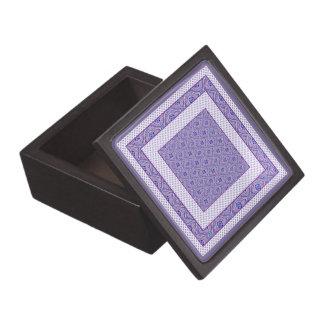 Pretty Trinket Box: Mauve and White Ogees, Polkas Premium Keepsake Boxes