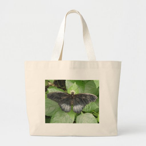 Pretty Tropical Butterfly and Flowers Tote Bag