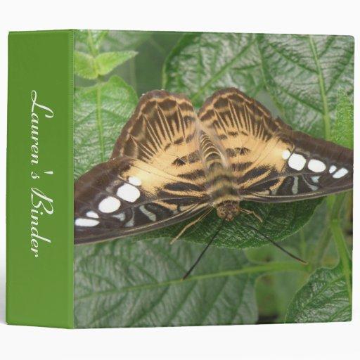 Pretty Tropical Clipper Butterfly Custom Binder