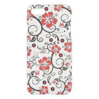 Pretty Tropical Hibiscus Decor black red white iPhone 8/7 Case