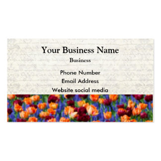 Pretty tulip floral flower business card