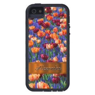 Pretty tulip flower field personalized iPhone SE/5/5s case
